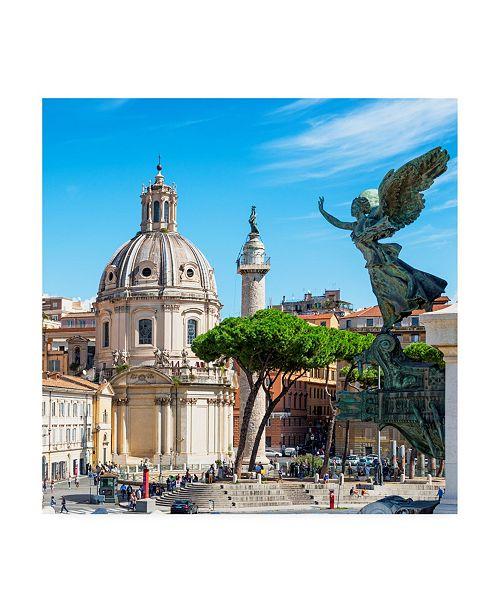 "Trademark Global Philippe Hugonnard Dolce Vita Rome 3 the City of the Italian Angels Canvas Art - 15.5"" x 21"""
