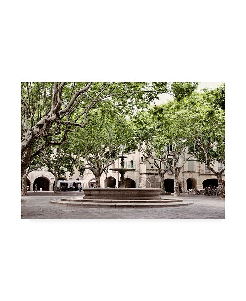 "Trademark Global Philippe Hugonnard France Provence Place aux herbes dUzes Canvas Art - 19.5"" x 26"""