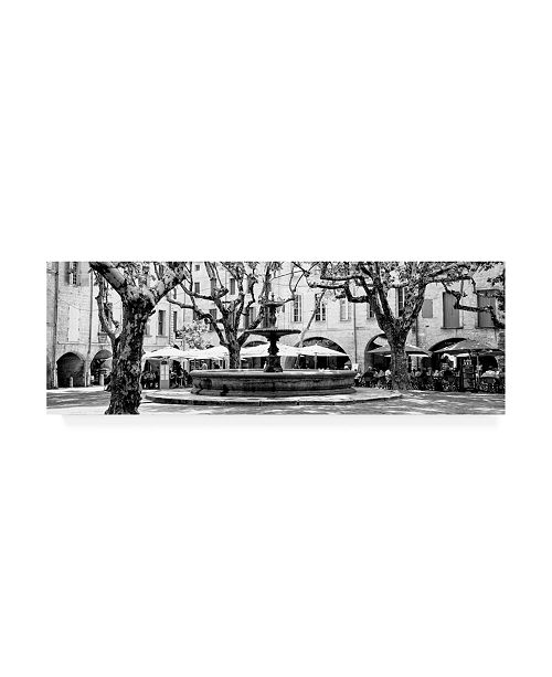 "Trademark Global Philippe Hugonnard France Provence 2 Place aux Herbes dUzes B&W Canvas Art - 27"" x 33.5"""
