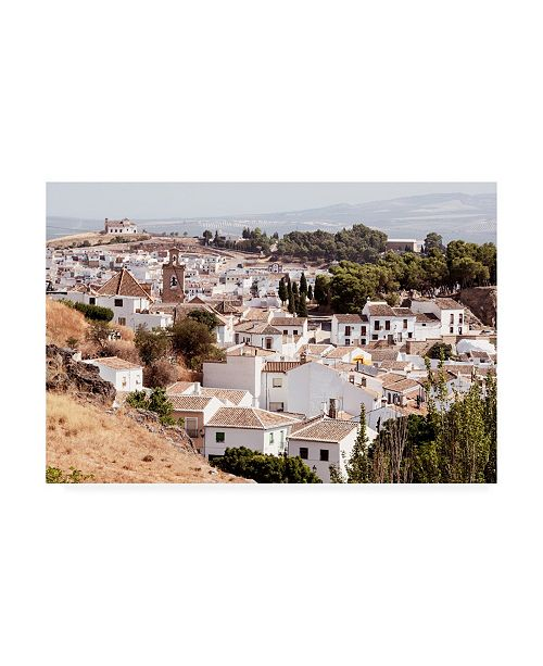 """Trademark Global Philippe Hugonnard Made in Spain White Town of Antequera II Canvas Art - 15.5"""" x 21"""""""