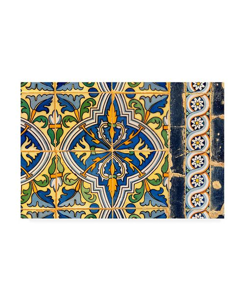"Trademark Global Philippe Hugonnard Made in Spain Details of Oriental Mosaic Canvas Art - 19.5"" x 26"""