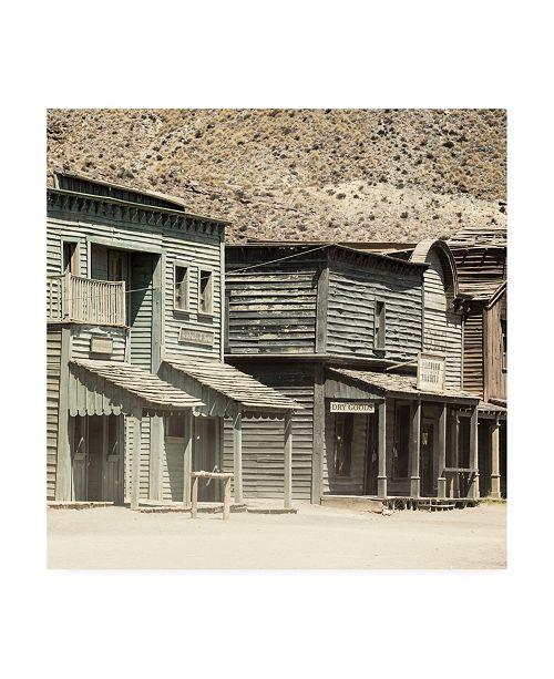 "Trademark Global Philippe Hugonnard Made in Spain 3 Wild Western Buildings Canvas Art - 15.5"" x 21"""