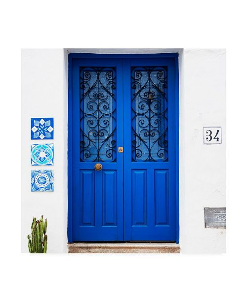 "Trademark Global Philippe Hugonnard Made in Spain 3 Dark Blue Front Door Canvas Art - 15.5"" x 21"""
