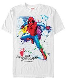 Men's Spider-Man Homecoming Neon Painted Brick Wall Pose Short Sleeve T-Shirt