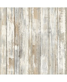Distressed Wood Peel And Stick Wallpaper