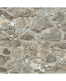 Weathered Stone Peel & Stick Wallpaper
