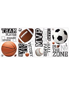 All Star Sports Saying Peel and Stick Wall Decals