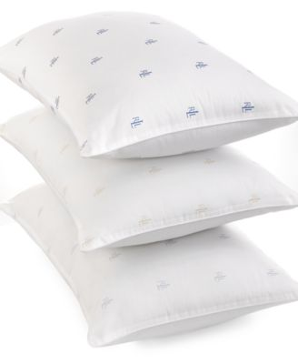Image of Lauren Ralph Lauren Logo Extra Firm Density Standard/Queen Pillow, Down Alternative