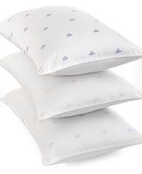 Lauren Ralph Lauren Logo Extra Firm Density Standard/Queen Pillow (White)