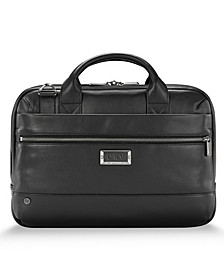 @Work Slim Leather Briefcase
