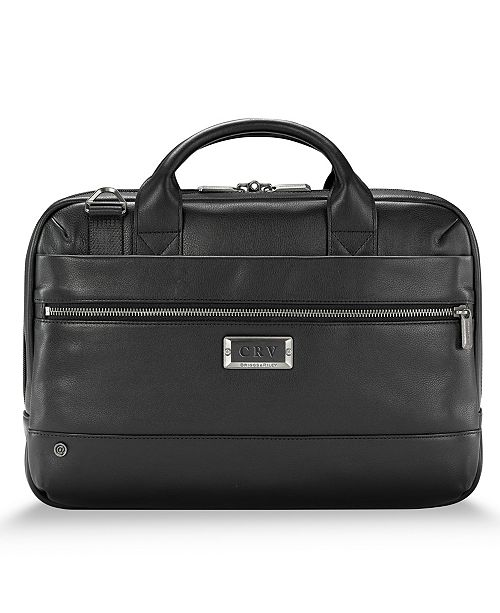 Briggs & Riley @Work Slim Leather Briefcase