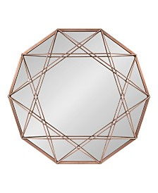 """Kate and Laurel Keyleigh Metal Accent Wall Mirror - 21"""" x 24"""""""