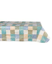 "Design Imports Tiles 52"" x 90"" Vinyl Table Cloth"