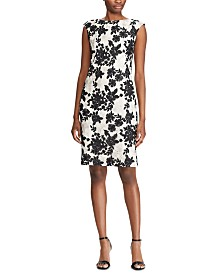 Lauren Ralph Lauren Petite Two-Tone Floral-Lace Dress