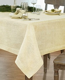 "La Classica Luxury Metallic Linen Fabric Tablecloth, 70""x146"""
