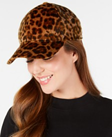 Nine West Faux-Haircalf Baseball Cap