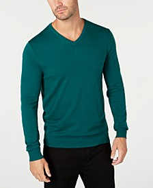 Men's V-Neck Sweater, Created for Macy's