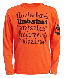 Timberland Big Boys Stacked Logo T-Shirt
