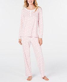 Charter Club Women's Petite Super Soft Textured Fleece Pajamas, Created For Macy's