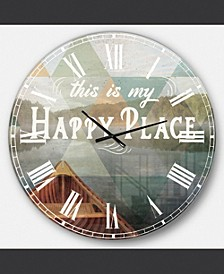 Cottage Oversized Metal Wall Clock