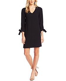 Tie-Sleeve Shift Dress