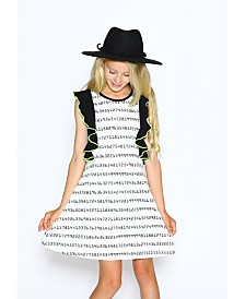 Lanoosh Little Girls A-Line Dress with Flare Details