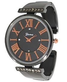 Women's Rhinestone Roman Numeral Cuff Bracelet Watch 38mm