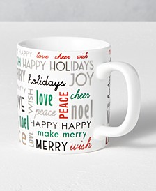 Holiday Sayings Sentiments Mug