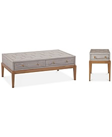 Camile Table 2-PC. Set (Cocktail Table & Chairside Table)