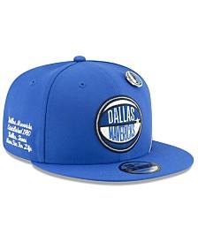 New Era Big Boys Dallas Mavericks 2019 On-Court Collection 9FIFTY Snapback Cap