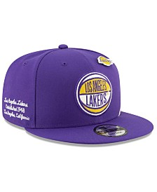 New Era Big Boys Los Angeles Lakers 2019 On-Court Collection 9FIFTY Snapback Cap