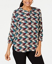 Printed Pleated-Back Blouse, Created for Macy's
