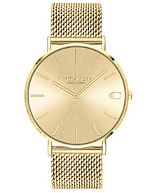 Men's Charles Gold-Tone Stainless Steel Mesh Bracelet Watch 41mm