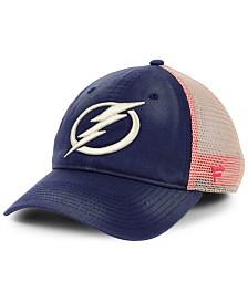 Authentic NHL Headwear Tampa Bay Lightning Americana Trucker Snapback Cap
