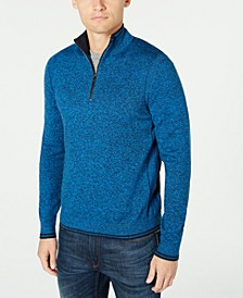 Men's Quarter-Zip Sweater, Created For Macys