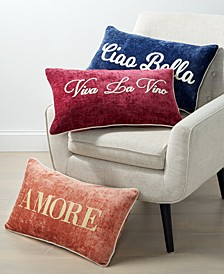 "Dolce Vita Words 14"" x 24"" Decorative Pillow Collection"