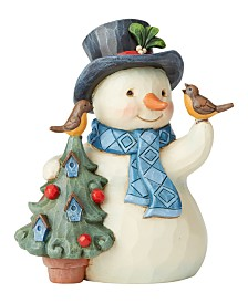 Jim Shore Pint Snowman with Tree
