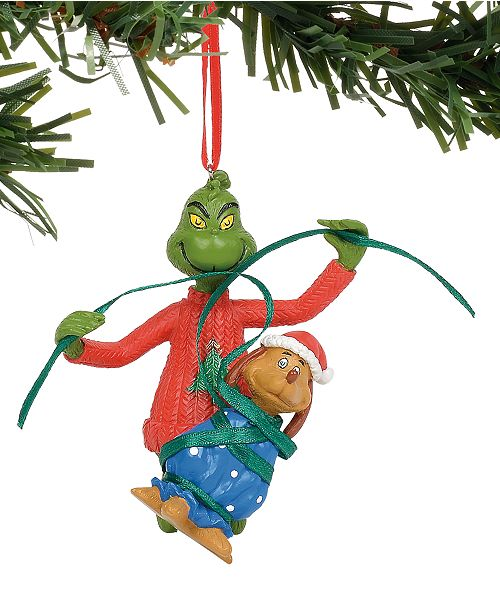Department 56 Disney Grinch wrapping Max Ornament