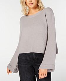 Juniors' Bell-Sleeve Sweater