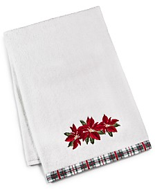 Martha Stewart Collection Poinsettia Bath Towel, Created for Macy's