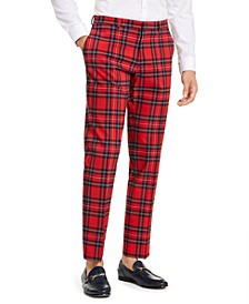 Men's Modern-Fit THFlex Stretch Plaid Dress Pants