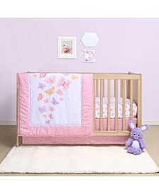 Butterfly 4-Piece Crib Bedding Set
