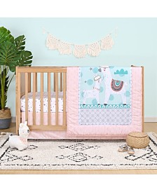 Belle Llama Love 4-Piece Crib Bedding Set