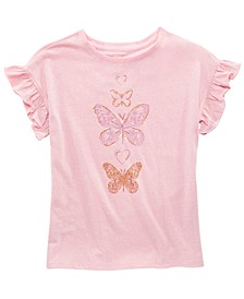 Big Girls Butterfly-Print T-Shirt, Created for Macy's