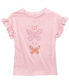 Epic Threads Big Girls Butterfly-Print T-Shirt, Created for Macy's