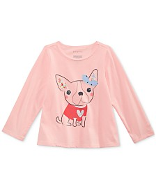 First Impressions Baby Girls Cotton Puppy T-Shirt, Created for Macy's