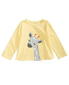 Baby Girls Cotton Giraffe T-Shirt, Created for Macy's