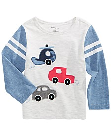 First Impressions Baby Boys Cars-Print T-Shirt, Created for Macy's
