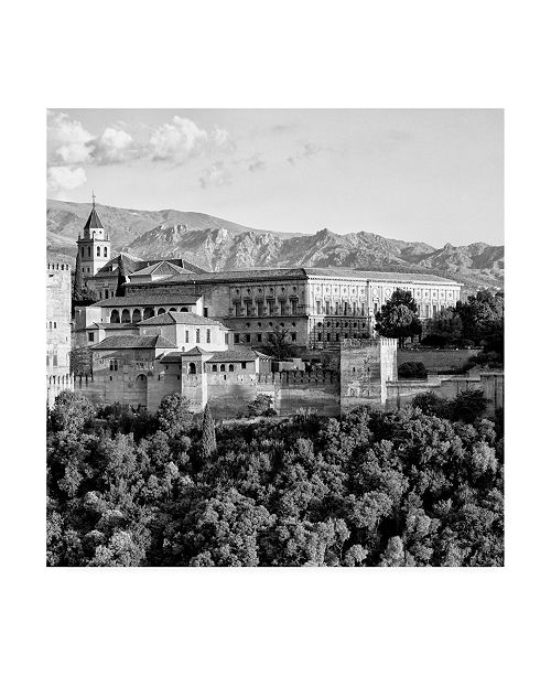 "Trademark Global Philippe Hugonnard Made in Spain 3 the Alhambra of Granada B&W II Canvas Art - 15.5"" x 21"""