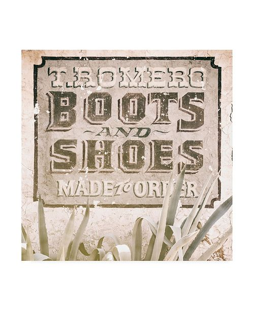 """Trademark Global Philippe Hugonnard Made in Spain 3 Boots and Shoes Sign II Canvas Art - 36.5"""" x 48"""""""